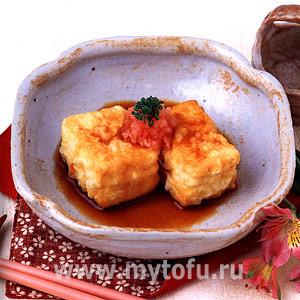 Глубоко жареный тофу (агэдаси-дофу)